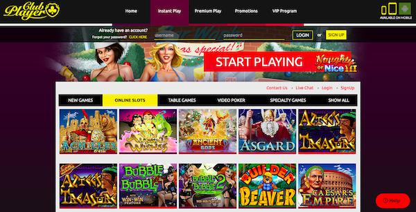 Club Player Casino Web Play